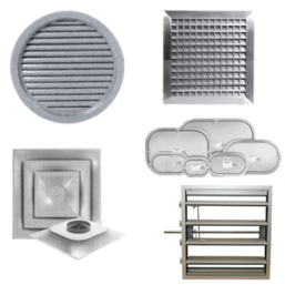 Commercial Grilles, Registers and Diffusers collage