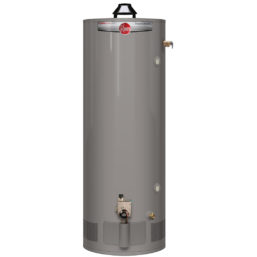 Rheem RHClassicPlus-Tall-HD-Gas-BrassDV water heater