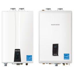 Navien tankless water heater and condensing combo boiler